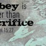 Obedience to the Lord